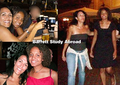 Dr. Scott and Jasmine on Barrett Study Abroad